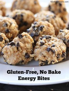 GF No Bake Energy Bites Gluten Free, No Bake Energy Bites ~for snacks Gluten Free Desserts, Gluten Free Recipes, No Bake Energy Bites, Energy Balls, Snack Recipes, Cooking Recipes, Cooking Tips, Smoothies, Keto