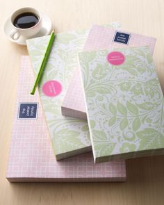 """Small """"Floral Paisley"""" Notepad"""
