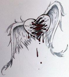 Super dark love art sad drawings 42 Ideas - New Pin Sad Drawings, Art Drawings Sketches, Cool Art Drawings, Pencil Drawings, Heartbroken Drawings, Broken Heart Drawings, Broken Heart Art, Broken Heart Tattoo, Sad Angel