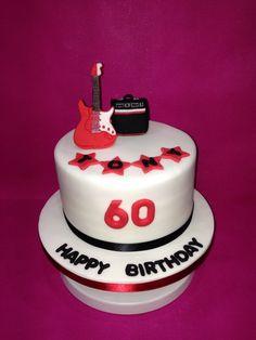 Amp and guitar cake