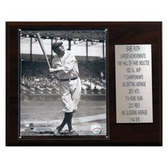 MLB 12 x 15 in. Babe Ruth New York Yankees Career Stat Plaque - 1215RUTHST