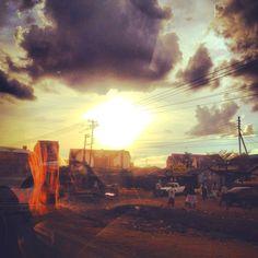Kenyan Sunset, Nairobi Nairobi, To Go, Gardens, Spaces, Sunset, Landscape, Painting, Paintings, Garden