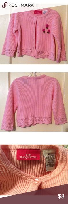 Kids Headquarters Sweater 3T pink button up sweater. Kids Headquarters Shirts & Tops Sweaters