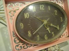 Vintage Pink Westclox Lace Electric Alarm Clock with Scroll Work Art Deco -works | eBay