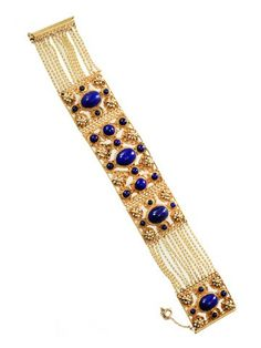 1860-1870 Treasure for King - Gold & Lapis Bracelet