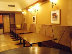 Another great example of fitted seating by Suite Illusions. As you can see this seating arrangement is again the wall by SIG Contracts Booth Seating, Wall Seating, Bespoke Furniture, Furniture Design, Commercial Furniture, Glasgow, Dining Table, Bar, Brown