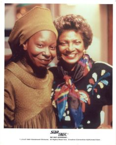 Whoopi and Nichelle - Guinan and Uhura