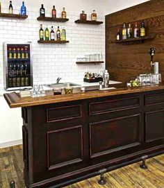 57 Fabulous Home Bar Designs You'll Go Crazy For. Decorating your ideal home bar design. Consider yourself lucky if you've got your own home bar – it's a perfect social gathering spot that's. Build Your Own Bar, Diy Home Bar, Diy Basement, Home Bar Design, Bars For Home, Bar Furniture, Home Bar Plans, Building A Home Bar, Man Cave Home Bar