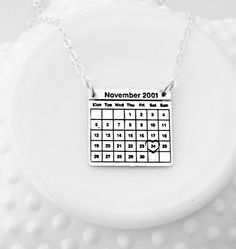 Calendar Necklace  Special Date Necklace  by 3LittlePixiesShoppe #specialday #calendar #anniversarygift #anniversaryoresent #anniversaryjewelry