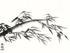 bamboo in suibokuga (sumi-e) style