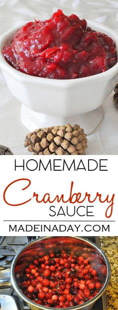 Ditch the Can Homemade Cranberry Sauce, Wow your guests with this Homemade Cranberry Sauce Recipe.  via @madeinaday