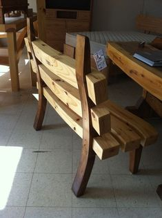 Custom Made The Wave Timber Bench
