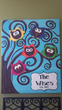 My Wise Owl Family Tree Canvas  ~Christy~