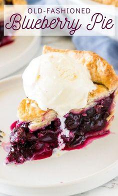 Homemade Blueberry Pie, Blueberry Pie Recipes, Homemade Pie, Blueberry Tarts, Blueberry Season, Summer Desserts, Just Desserts, Delicious Desserts, Yummy Food