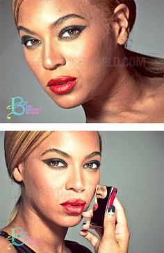 Unretouched Photos of Beyoncé Prove She's Actually Human  (It's always comforting to know even gorgeous celebs aren't made of plastic.)