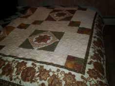 Cream and gold Quilt