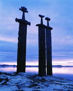 Viking Swords at Stavanger Sword Monument.. ran by this the other day:) in Stavanger, Norway