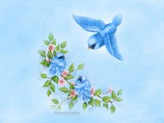 Free Spring & Easter Greetings Featuring Cute Animals Artwork by Penny Parker Penny Parker, Bird Pictures, Fruit Art, Penny Black, Whimsical Art, Cute Illustration, Bird Art, Beautiful Paintings, Beautiful Birds