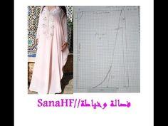 5c1e236fa (3) طريقة رسم باترون فراشة - YouTube Baby Dresses, Kimono Top, Paper