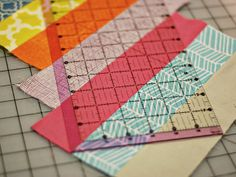 Here's a clever way to create a herringbone-style quilt design.