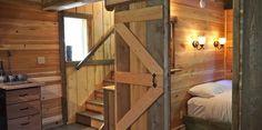 Downstairs bedroom with Queen bed. Luxury Cabin, Queen Beds, British Columbia, Bunk Beds, Bedroom, Interior, Beautiful, Design, Home Decor