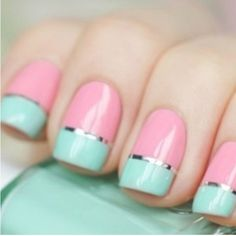 Summery French manicure