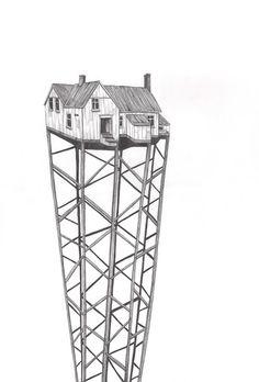 Hus / House by Danish blogger and artist Pernille Egetoft