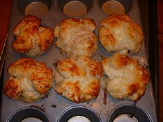 Mini Garlic Bread made with biscuit Dough-Monkey Bread Style