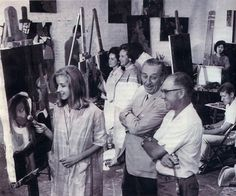 Walt observes artists at work in the earliest incarnation of CalArts.