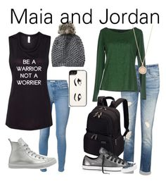 """Maia and Jordan- The Mortal Instruments"" by thefeels1456 ❤ liked on Polyvore featuring 7 For All Mankind, Converse, Vincent Pradier, J Brand, Victorinox Swiss Army, Armani Jeans, Kate Spade and Astley Clarke"