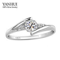 Have Certificates Guarantee!!! 100% 925 Solid Silver 1 Carat CZ Diamant Wedding Rings For Women RING SIZE 4 5 6 7 8 9 10 YR054