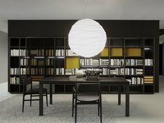 Open wooden bookcase STORAGE | Bookcase Storage Collection by Porro | design Piero Lissoni