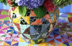 Kaffe Fassett – fabrics, mosaic, patchwork, needlepoint, painting | Interior Design Files