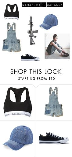 """Untitled #26"" by alessiabazzurro on Polyvore featuring Calvin Klein, Hollister Co., WithChic and Converse"