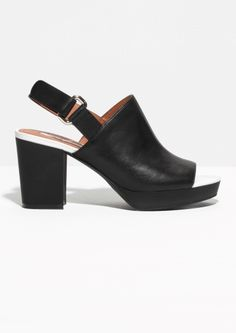 & Other Stories | Chunky Heel Leather Sandals