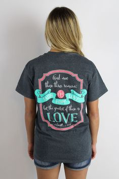 Show your faith proudly while also looking adorable in this Southern Couture 'Faith Hope Love' Short Sleeve Tee. $17.99 at tyalexanders.com