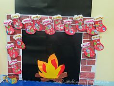 Teacher-Made fireplace for our classroom this Christmas :)