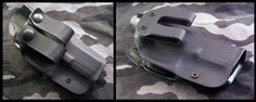 The Falcon.  Primal Options Slimline IWB holster.  Shown with rubber IWB loops and Ultra-Flat Kydex IWB loop.