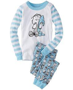 8af41dd39c Peanuts Long John Pajamas In Organic Cotton from  HannaAndersson.   snoopypins Cotton Sleepwear
