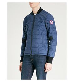 Canada Goose Dunham Shell-down Bomber Jacket In Marine Blue Great Lengths, Marine Blue, Backpack Straps, Canada Goose Jackets, Shell, Bomber Jacket, Winter Jackets, Mens Fashion, Clothes