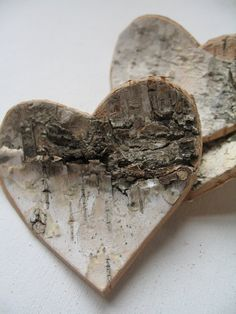 wooden bark heart