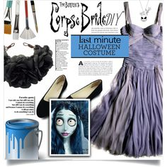 DIY Halloween Costume by dolly-valkyrie on Polyvore featuring mode, Disney, Rock 'N Rose, halloweencostume and DIYHalloween