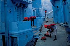 "Jodhpur, India. Also known as the ""Blue City"". Taken by Steve McCurry in 1996"