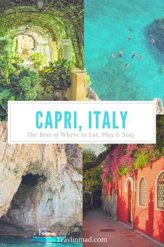 As one of Italy's top destinations, there are so many unique things to do in Capri, Italy, though many visitors make just a day trip to Capri. Without a doubt it deserves more. This Capri travel… Italy Travel Tips, Slow Travel, Travel Guide, Travel Diys, Travel Essentials, Italy Destinations, Holiday Destinations, Four Seasons Hotel, Things To Do In Italy