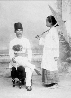 PORTRAIT OF A MALAY COUPLE - 1900