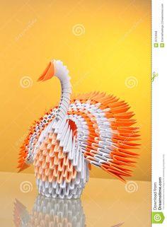 origami pavo real de papel anaranjado - Buscar con Google