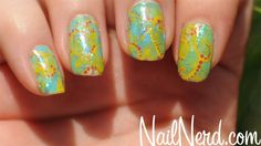 Freehand swirls and dots covered with Ludurana Flocado Arco-Iris