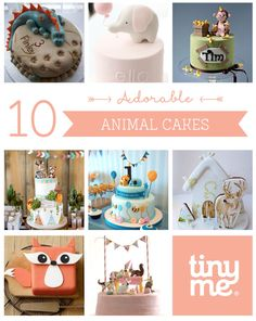 Are your kids animal crazy!? Need some inspiration for their upcoming Birthday party? This collection of 10 Adorable Animal Cakes has all the inspiration you need to create an epic cake that the kids will love...