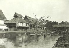 Pusat kota Palopo, Sulawesi, sekitar 1911 Dutch East Indies, Makassar, Old Pictures, Java, Holland, Landscape, Type, History, Painting