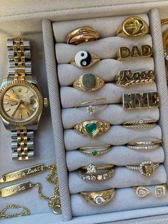 Cute Jewelry, Gold Jewelry, Jewelry Box, Jewelry Accessories, Fashion Accessories, Fashion Jewelry, Beaded Jewelry, Jewlery, Jewelry Rings